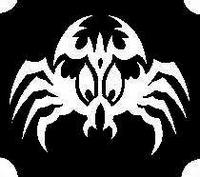 Glitter Tattoo CRAB TRIBAL krab tribal