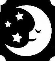 Glitter Tattoo MOON STARS 2 maan sterren 2