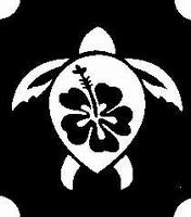 Glitter Tattoo TURTLE HIBISCUS schildpad