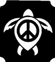 Glitter Tattoo TURTLE PEACE schildpad vrede
