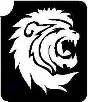 Glitter Tattoo LION HEAD leeuwekop