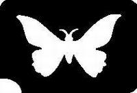 GlitterTattoo BUTTERFLY SMALL vlinder klein